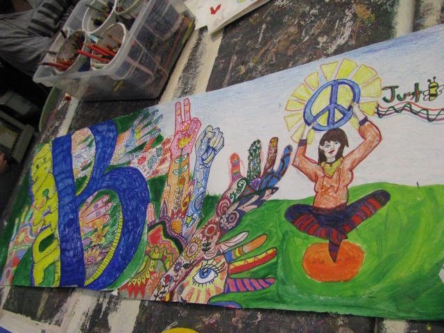 Art students reach the heart of Just B Yoga