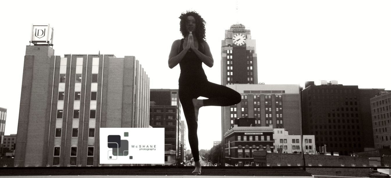 Lansing yoga photo note cards salute hometown spirit (LAST-MINUTE HOLIDAY SALE PRICE!)
