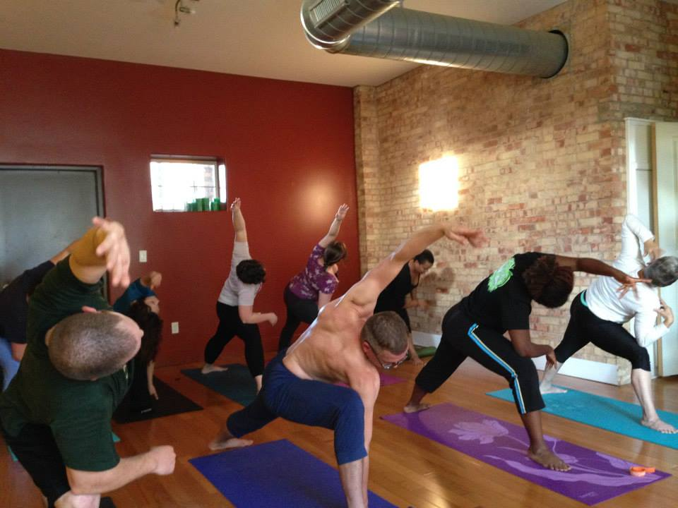 Who goes to donation-based yoga?
