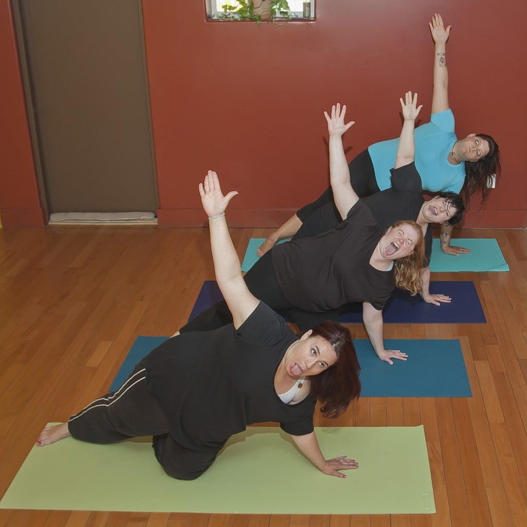 Yoga isn't yoga until we can make silly faces and hold the pose.