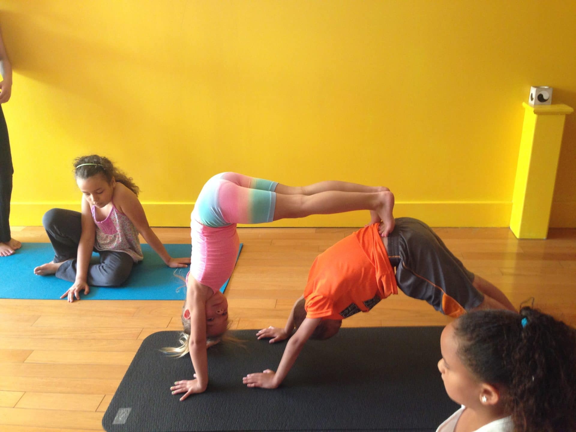 Kids yoga day camp tons of fun