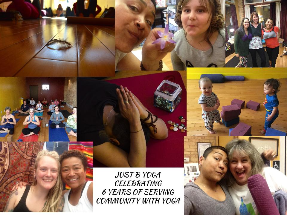 Just B Yoga anniversary package specials