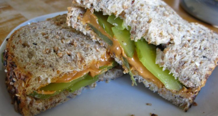 Yoga + Social activism = peanut butter and pickle sandwiches