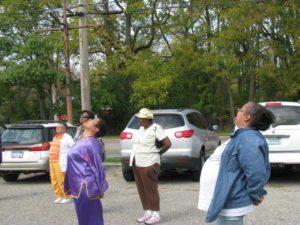Senior exercises at South Side Community Coalition