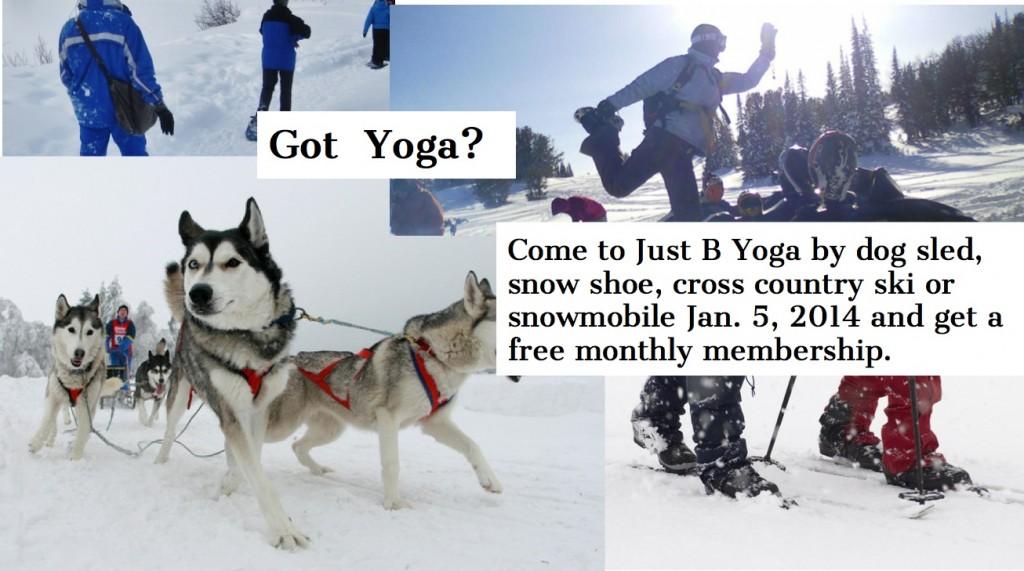 Just b yoga snow contest
