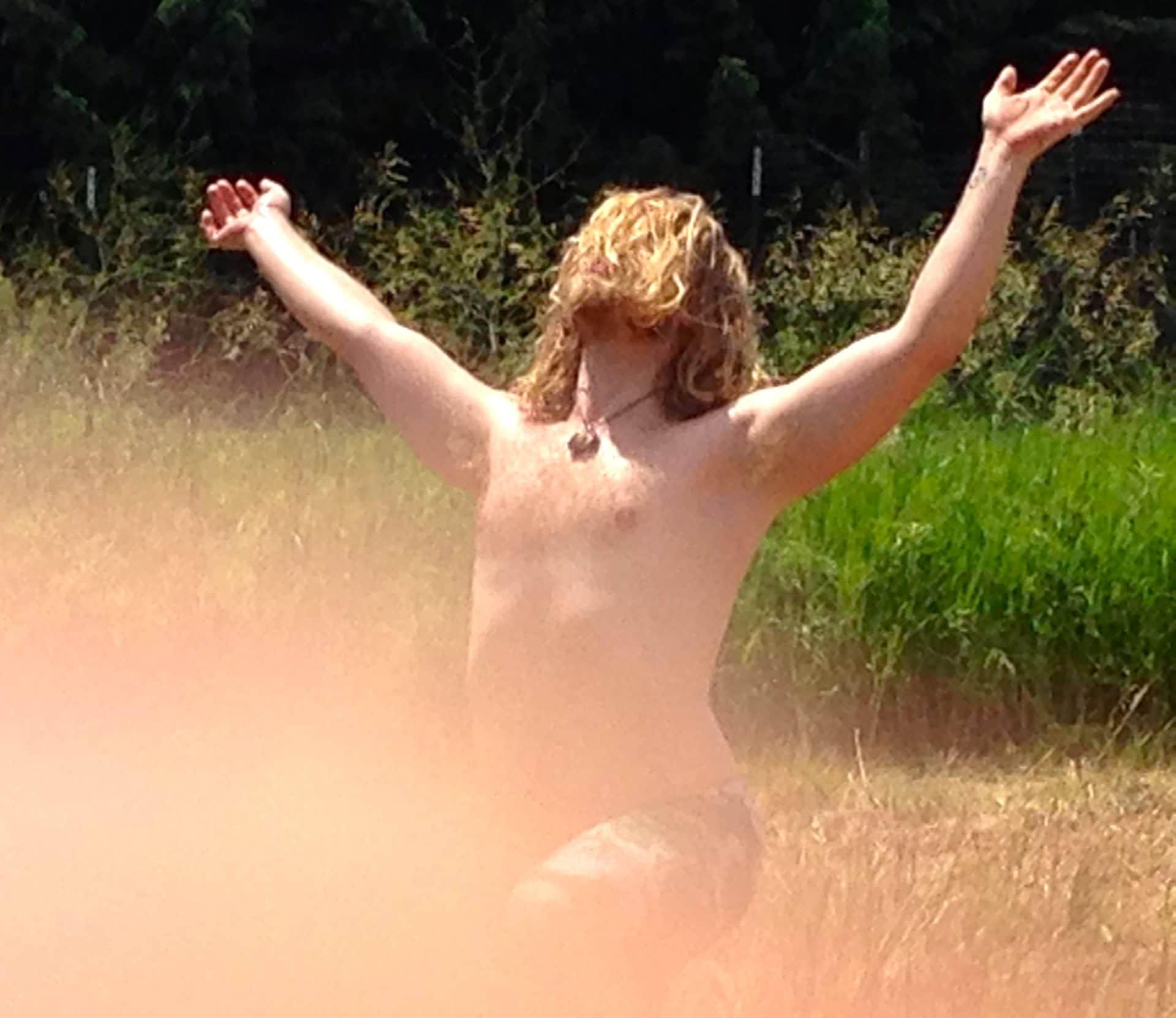Just B Yoga solstice on the farm