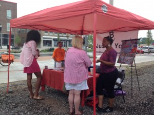 Just B Yoga was a participant in a local art festival sharing the art of yoga.