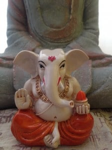This Ganesh was a gift from Ruth Fisk after her most recent trip to India.