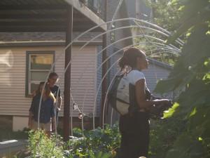 Garden Project tourists visit Just B Yoga community garden.