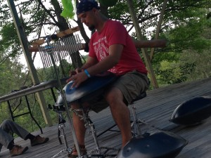 Jeremy Arndt performing this past weekend at Yoga Fest at Song of the Morning Ranch.