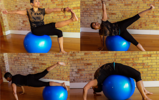 Yoga on the Ball series, March 22-April 26